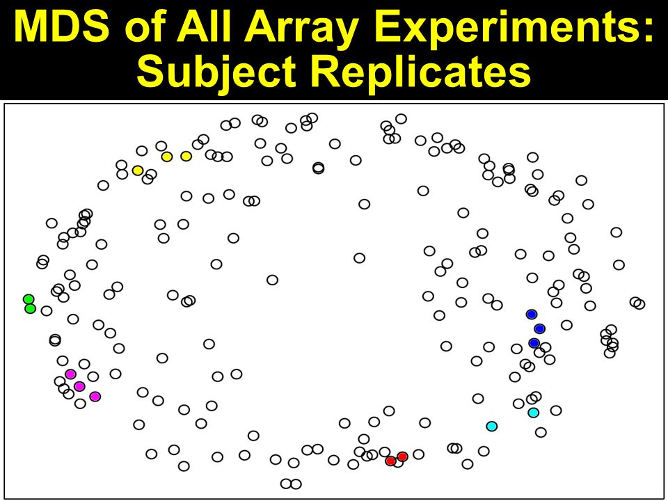 MDS of All Array Experiments: Subject Replicates