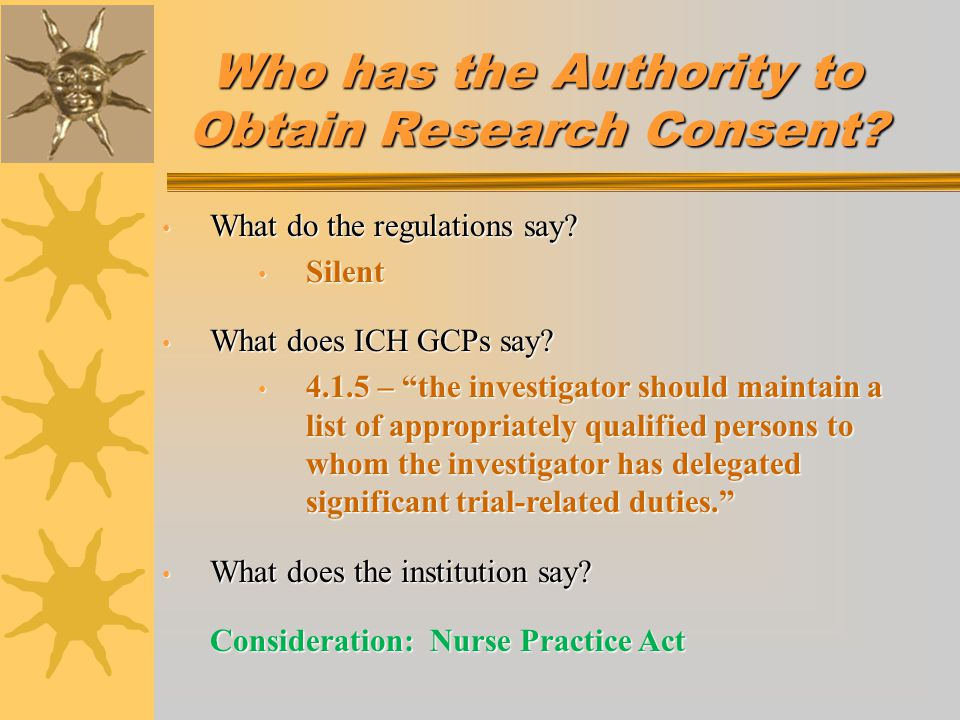 INFORMED CONSENT DISCUSSION