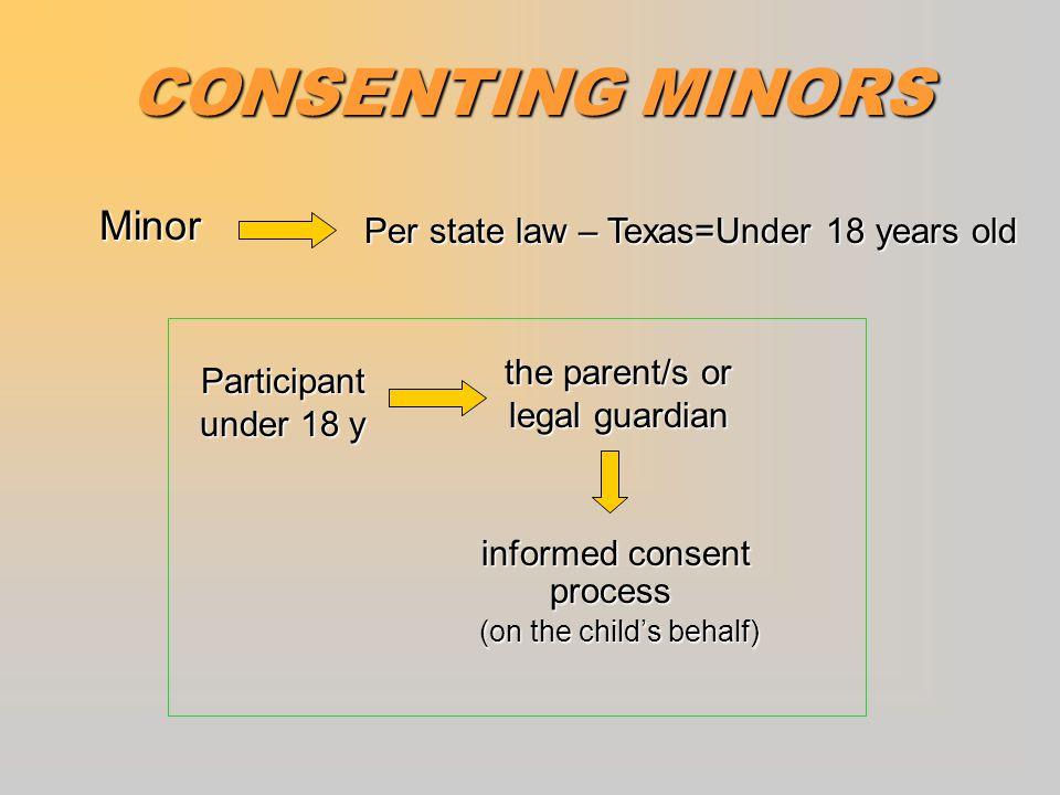 CONSENTING MINORS