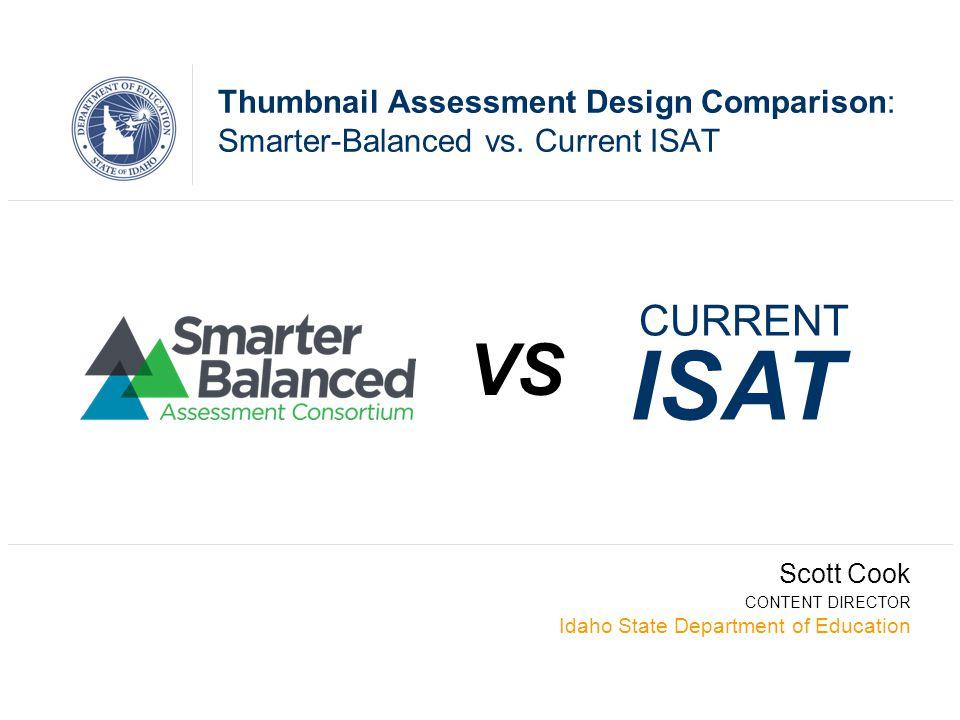 SBAC Item Types-Not the same old test Thumbnail Assessment Design Comparison: Smarter-Balanced vs.