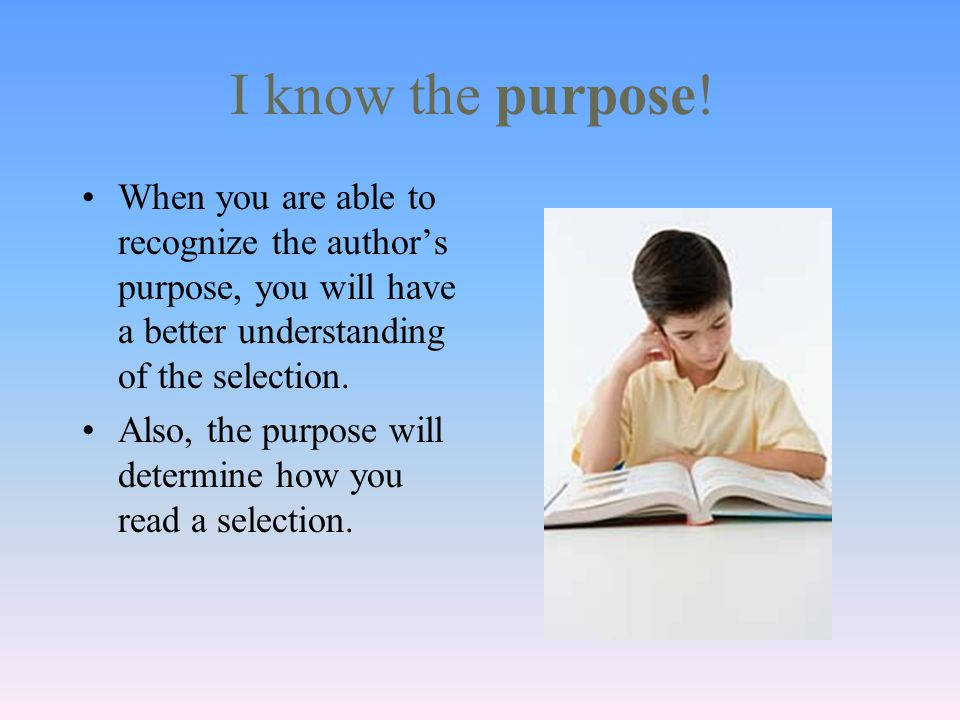 Can you identify the author's purpose.The correct answer is C, to persuade.