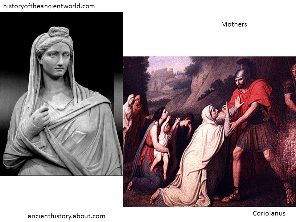 historyoftheancientworld.com ancienthistory.about.com Coriolanus Mothers