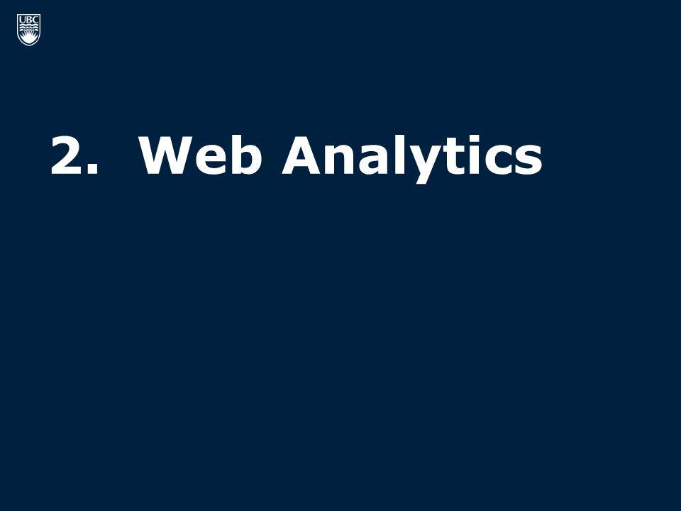 2. Web Analytics