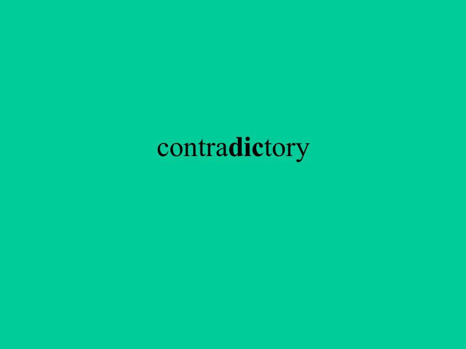 contradictory