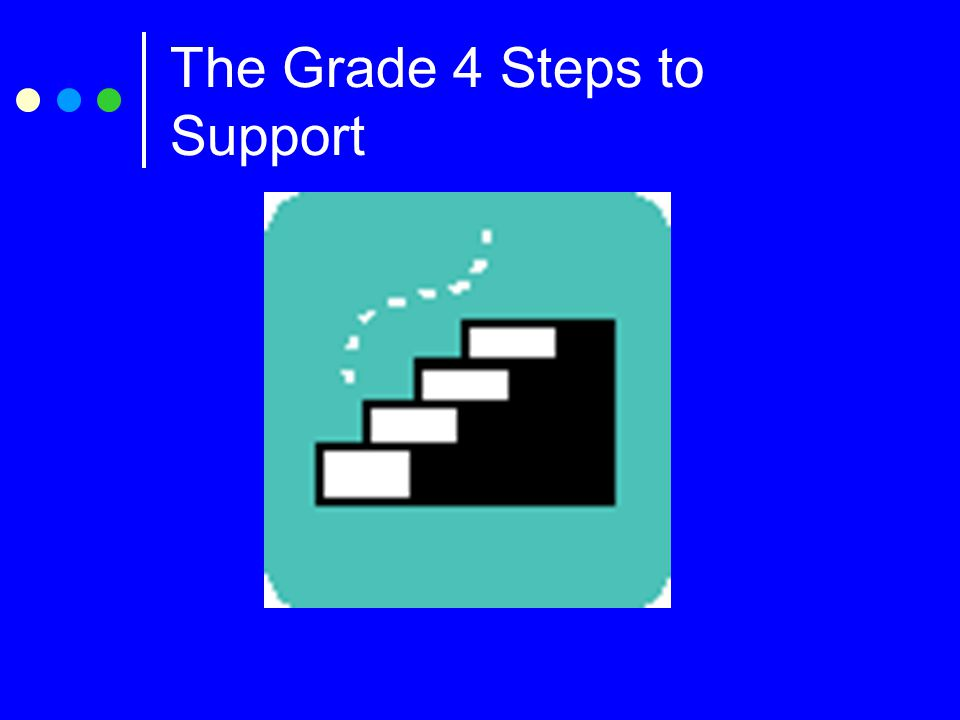 The Grade 4 Steps to Support