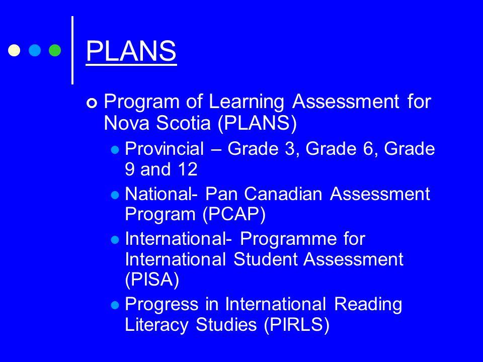 Goals of Provincial testing It is an assessment program for Nova Scotia students.
