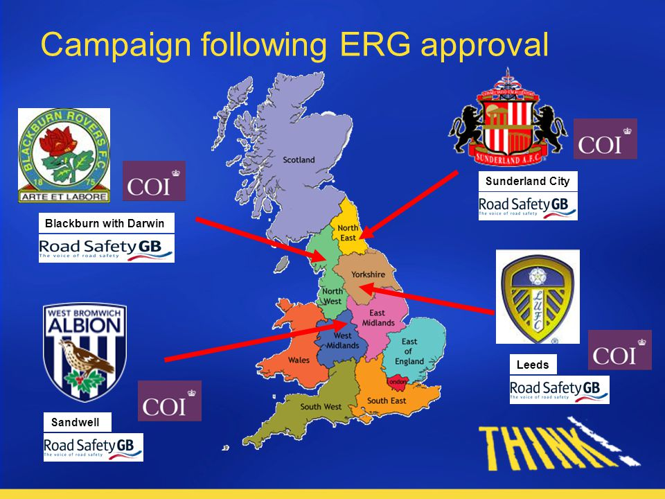 Blackburn with Darwin Leeds Sunderland City Sandwell Campaign following ERG approval