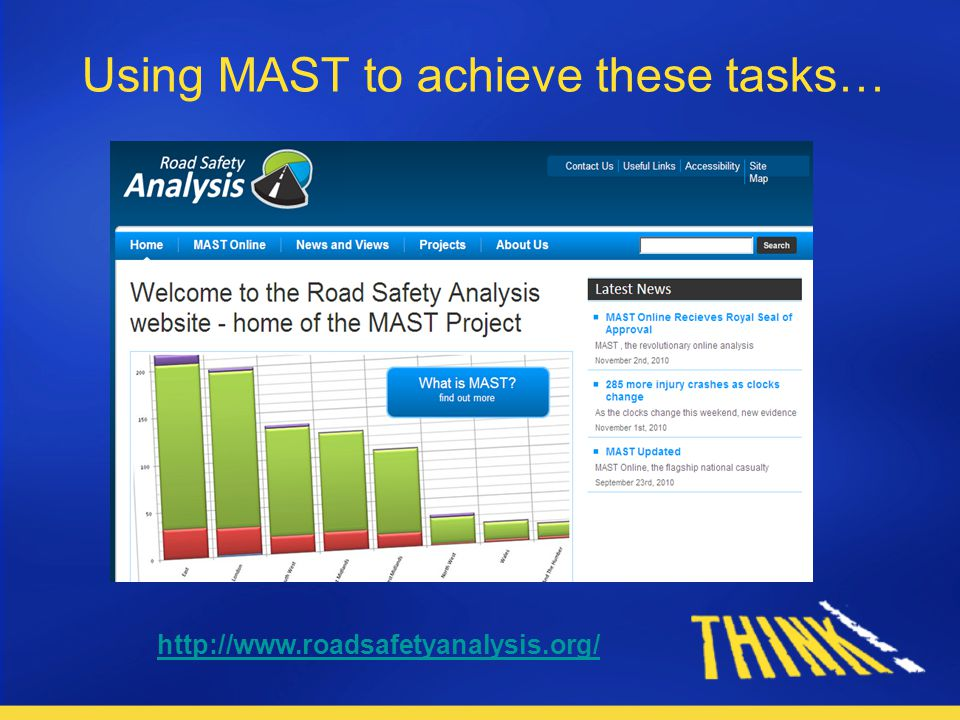 Using MAST to achieve these tasks… http://www.roadsafetyanalysis.org/