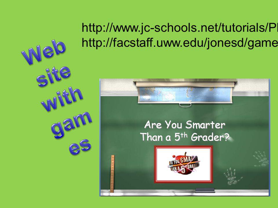 http://www.jc-schools.net/tutorials/PPT-games/ http://facstaff.uww.edu/jonesd/games/index.html