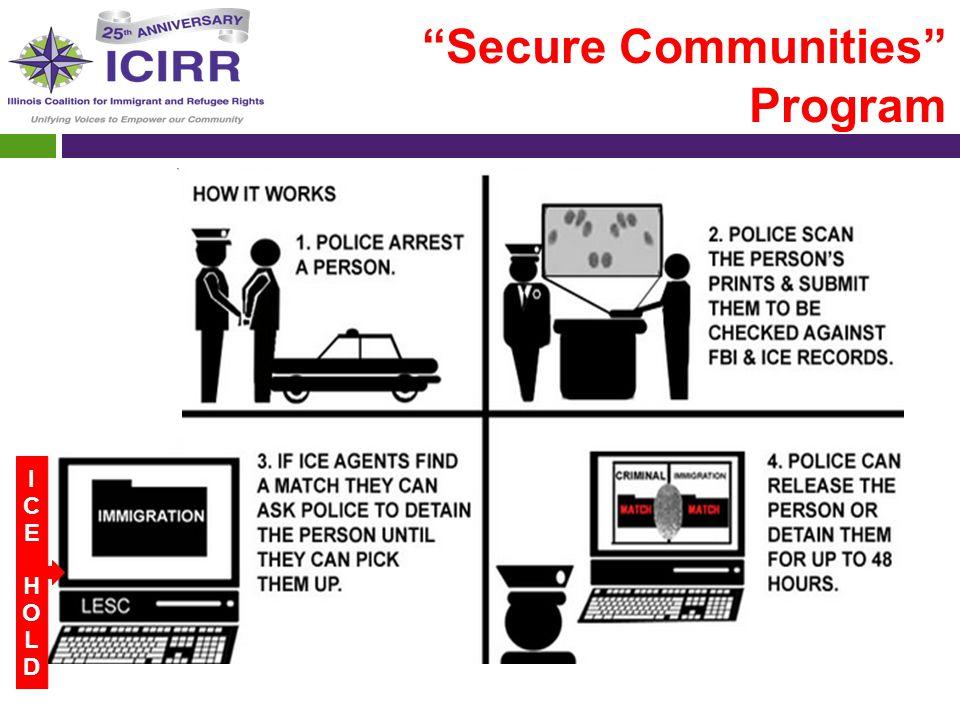 """Secure Communities"" Program DONDE ESTA LA REFORMA? ICEHOLDICEHOLD"