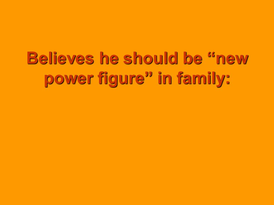 Believes he should be new power figure in family: