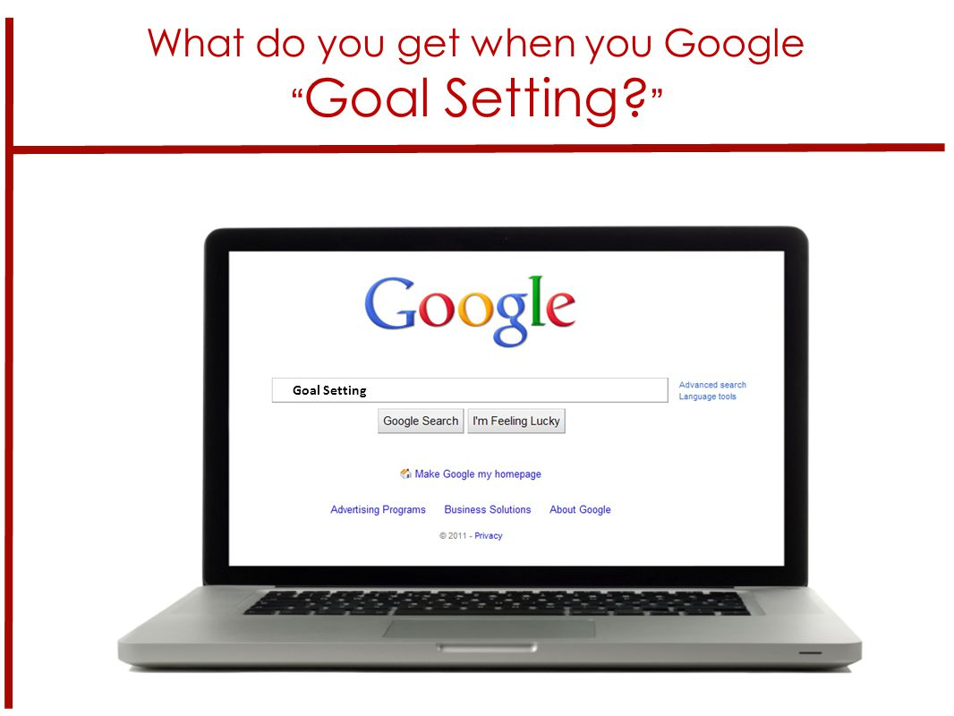 What do you get when you Google Goal Setting? 6 Goal Setting