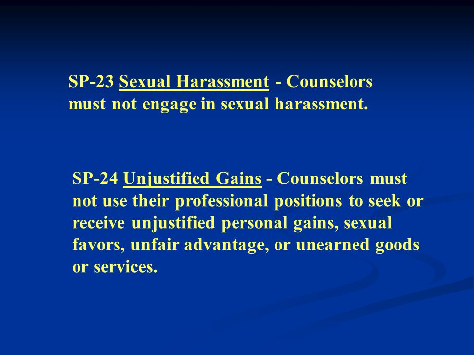 SP-21 Recruiting Through Employment - Counselors must not use their place of employment or institutional affiliation to recruit clients for their priv