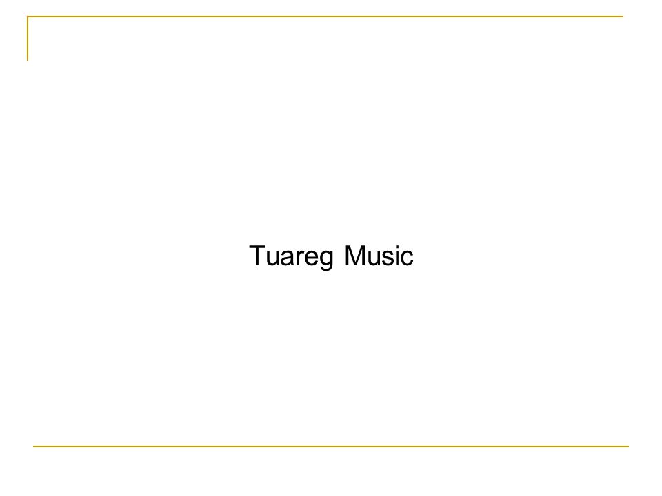 Tuareg Music