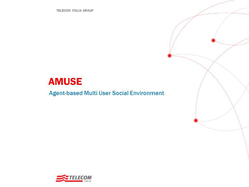 12 TELECOM ITALIA Startup guide: Amuse server platform – DB Configuration  Configure and start the Amuse DB  H2 (full Java Open Source DB), but other DBs should work as well  Start the H2 DB server  wadeSuite/wade/add-ons/persistence/lib  java -jar h2-1.2.123.jar  Configure Amuse to use H2  Create a suitable directory to hold DB files (e.g.