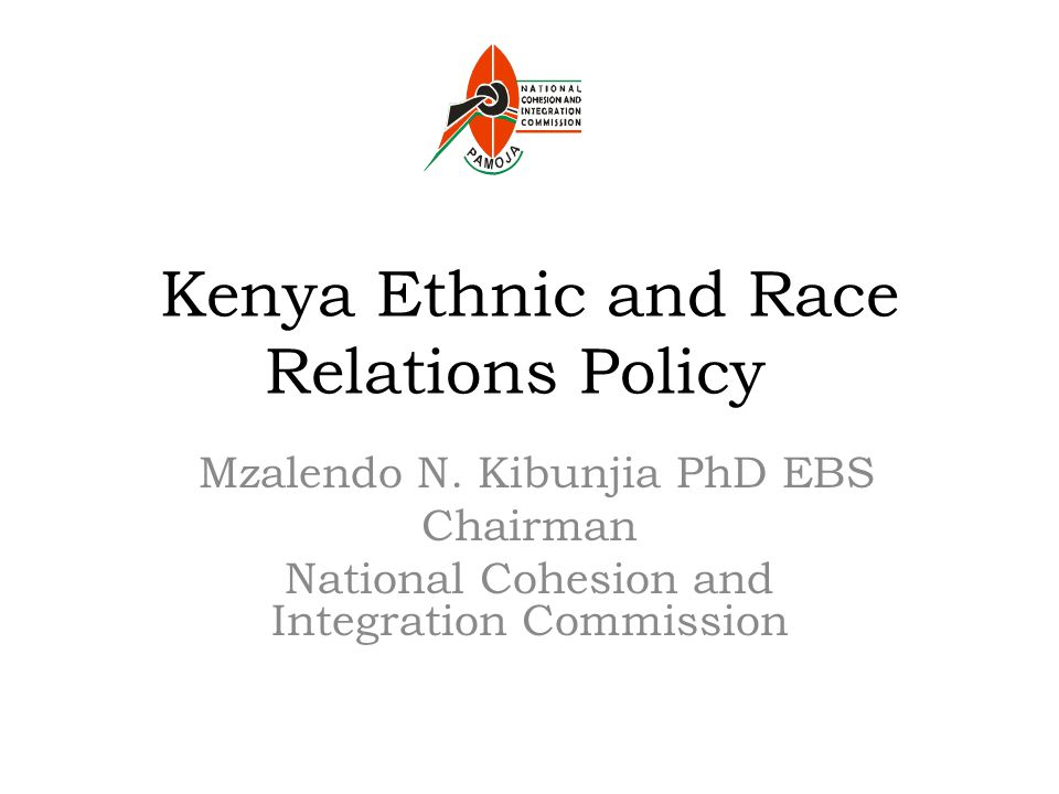 Kenya Ethnic and Race Relations Policy Mzalendo N.
