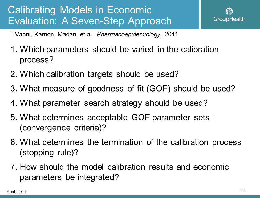 Calibrating Models in Economic Evaluation: A Seven-Step Approach Vanni, Karnon, Madan, et al.
