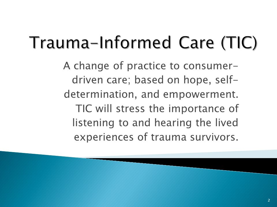  First and foremost, a consumer-driven system means one which is guided by people with a lived experience.