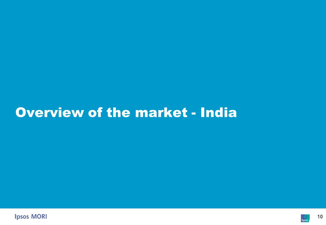 10 Overview of the market - India