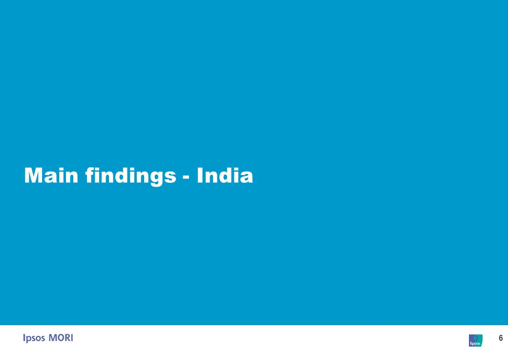 6 Main findings - India