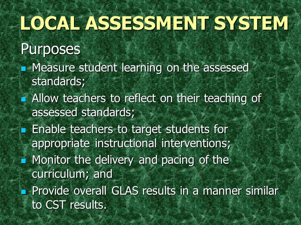 Taught Curriculum Written Curriculum Assessed Curriculum Aligned Instructional System TEACHING LEARNING
