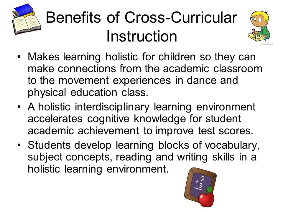 Benefits of Cross Curricular Teaching Integration teaching techniques help to better utilize the instructional process by taking a more in depth study into all subjects by making cross curricular connections to promote meaningful learning experiences for all students.