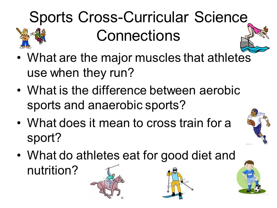 Sports Cross-Curricular Science Connections What are the major muscles that athletes use when they run.