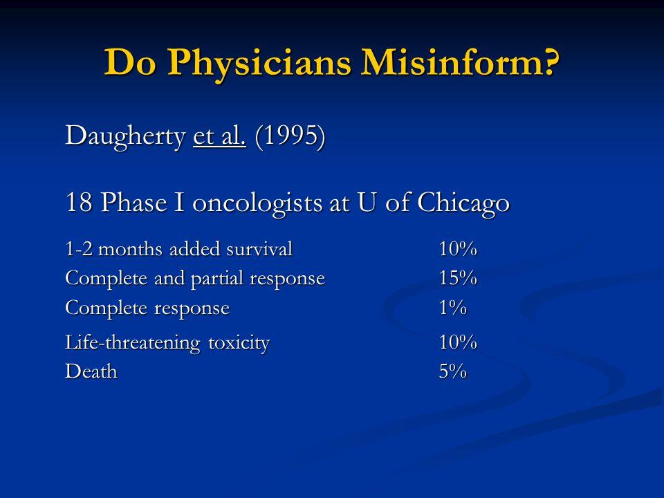 Do Physicians Misinform. Daugherty et al.