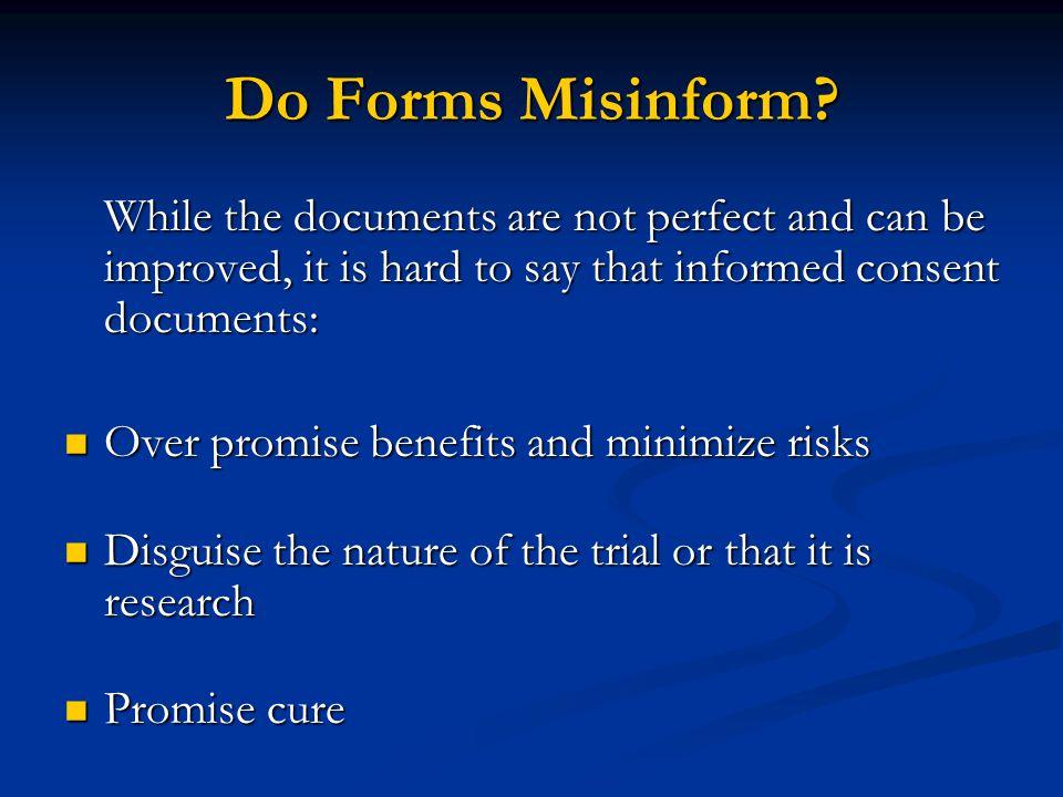 Do Forms Misinform.