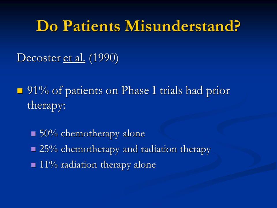 Do Patients Misunderstand. Decoster et al.