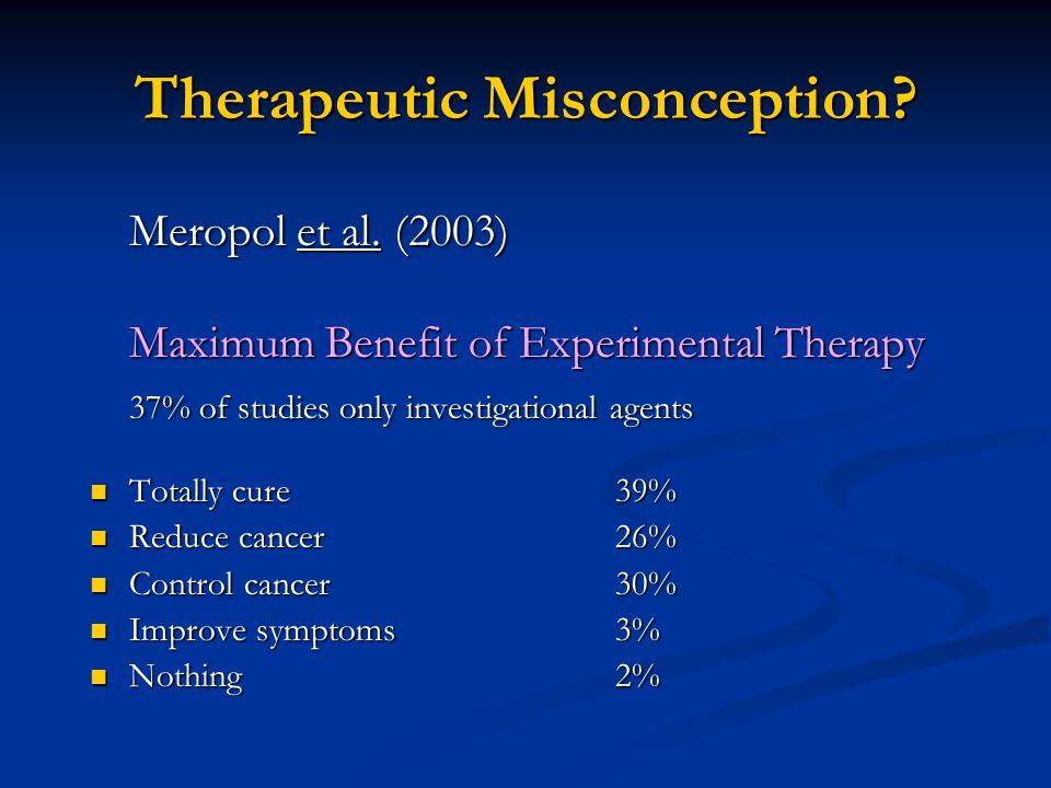 Therapeutic Misconception. Meropol et al.