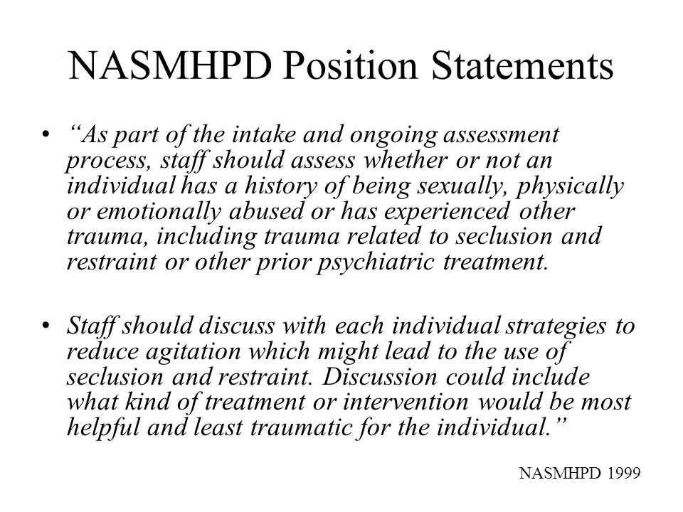 Screening and Assessment Measures for Childhood Trauma The SAMHSA-sponsored National Child Traumatic Stress Network (NCTSN) is well situated to undertake validation of these and other measures across a wide range of age groups, service sectors, cultural settings, and types of trauma.