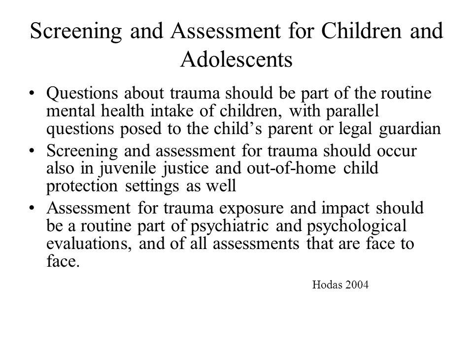 mental health assessment questions