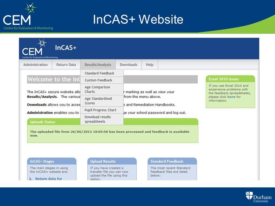 InCAS+ Website