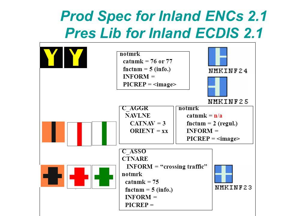 "C_ASSO CTNARE INFORM = ""crossing traffic"" notmrk catnmk = 75 fnctnm = 5 (info.) INFORM = PICREP = Prod Spec for Inland ENCs 2.1 Pres Lib for Inland EC"