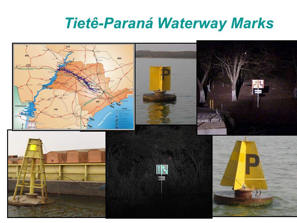 Tietê-Paraná Waterway Marks