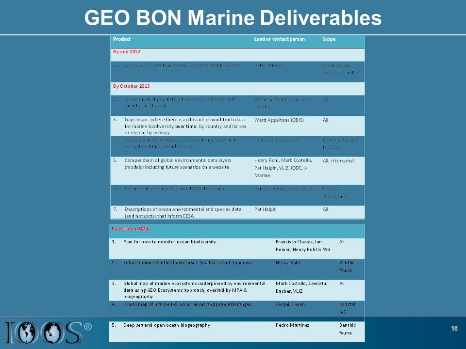 GEO BON Marine Deliverables 18