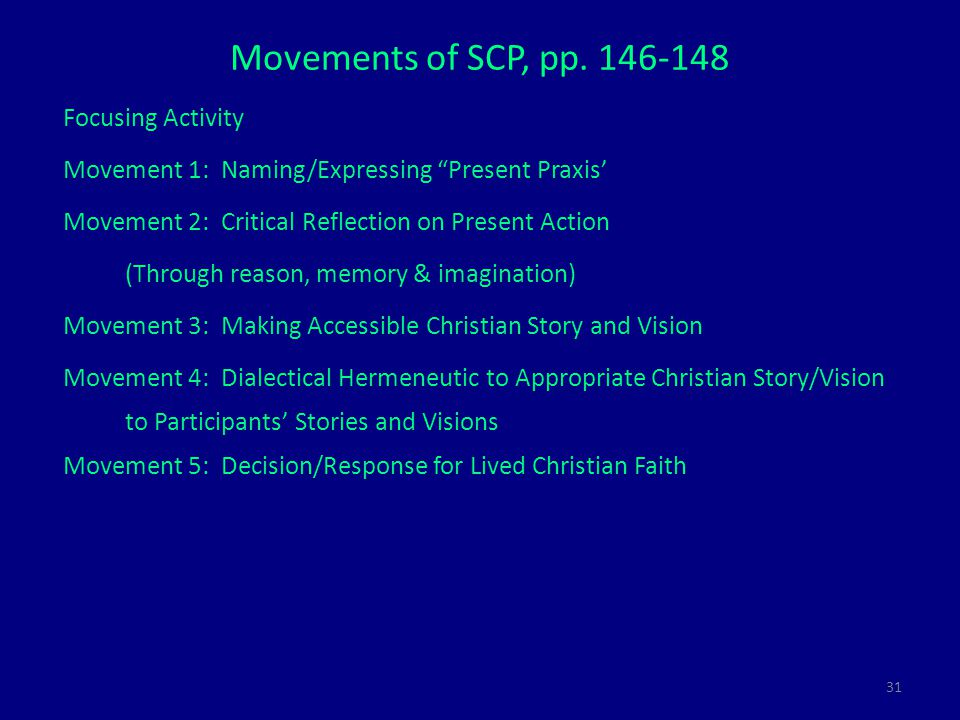 31 Movements of SCP, pp.