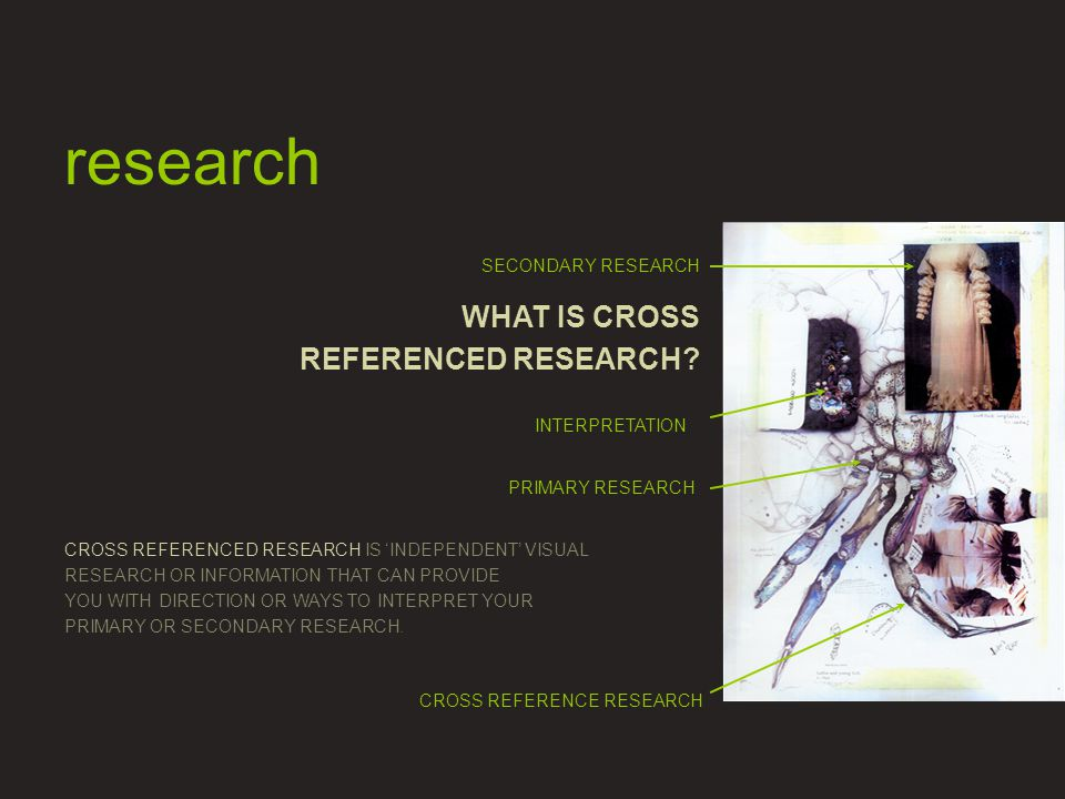 WHAT IS CROSS REFERENCED RESEARCH.