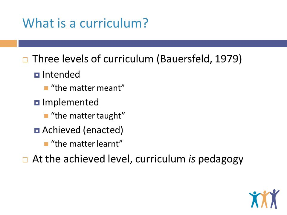 What is a curriculum.