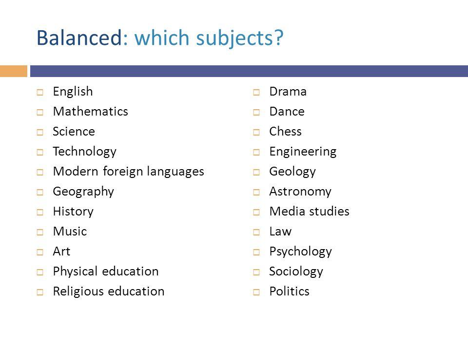 Rigorous: subjects or disciplines.