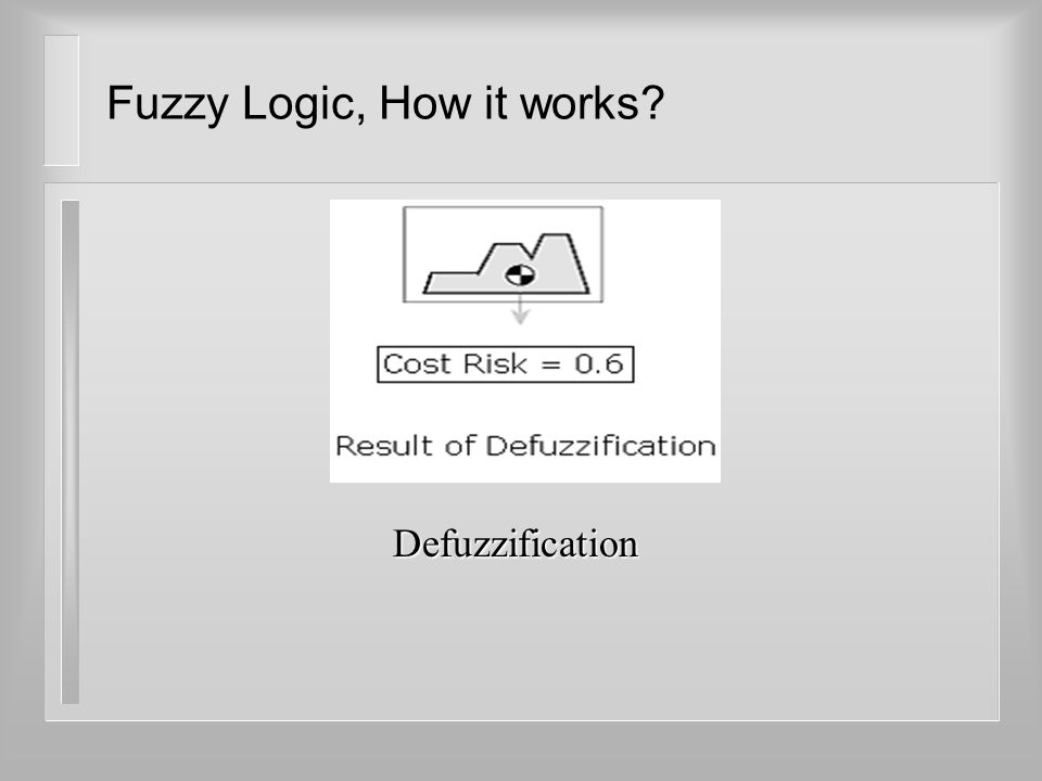 Fuzzy Logic, How it works? Defuzzification