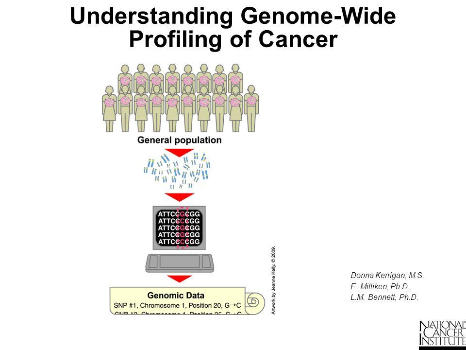 Understanding Genome-Wide Profiling of Cancer Donna Kerrigan, M.S. E. Milliken, Ph.D. L.M. Bennett, Ph.D. Erin Milliken L. Michelle Bennett