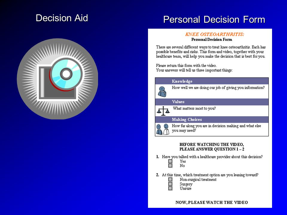 Decision Aid Personal Decision Form