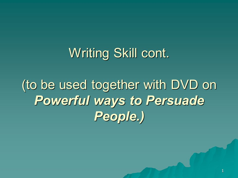 2 Objectives  Discuss the difference between writing to inform and writing to persuade  Explain why you need to know about the self interests of your readers  Identify four ways to write with passion  Identify active and passive sentences.
