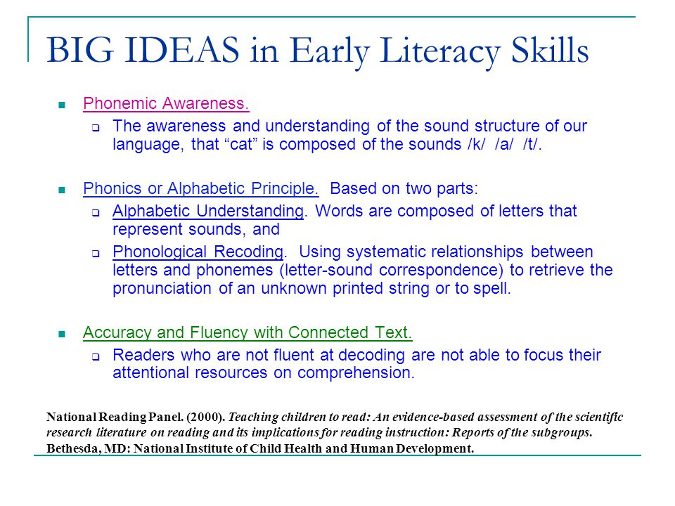 (c) 2002 Good & Kaminski BIG IDEAS in Early Literacy Skills Phonemic Awareness.