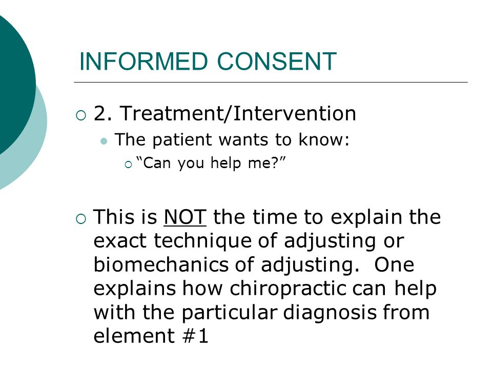 INFORMED CONSENT  3.
