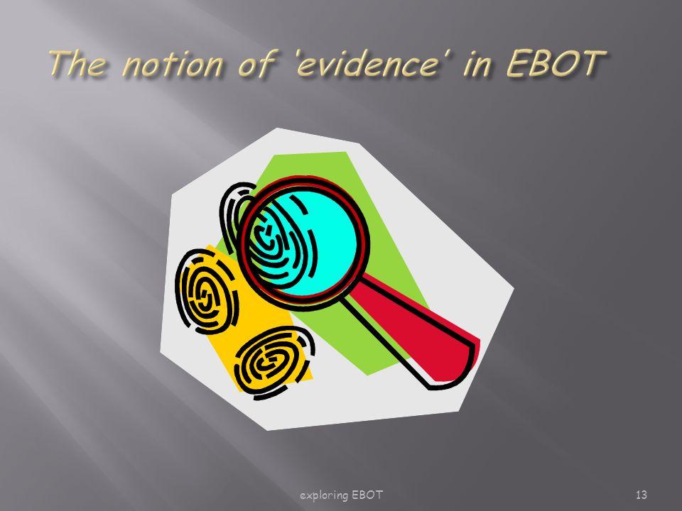 exploring EBOT13