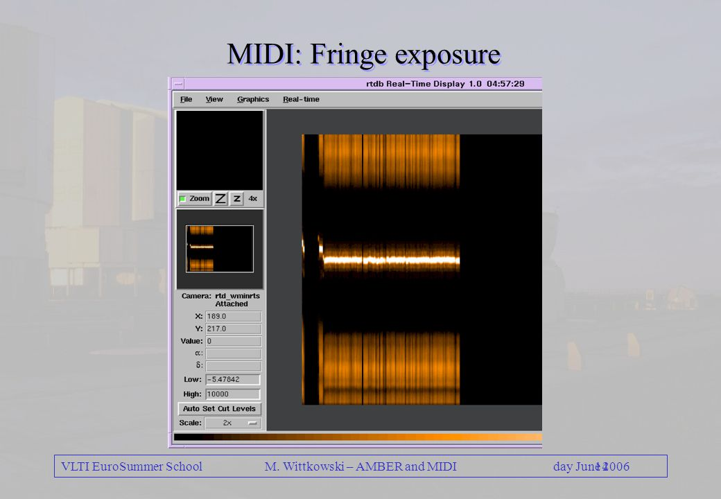 VLTI EuroSummer School 14day June 2006 M. Wittkowski – AMBER and MIDI MIDI: Fringe exposure