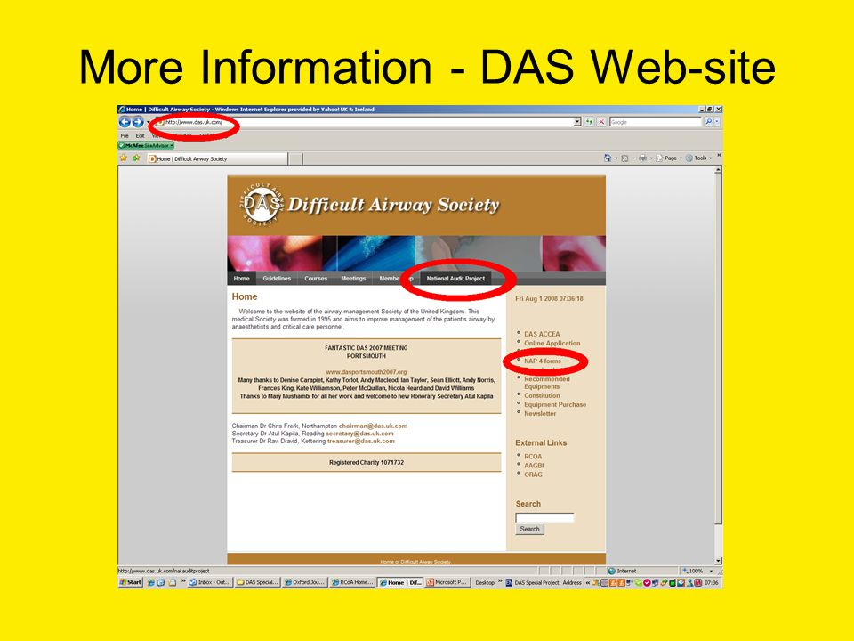 More Information - DAS Web-site